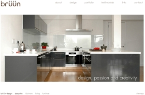Home page of Bruun Design website