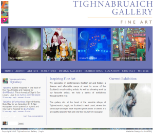 Tighnabruaich Gallery homepage
