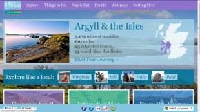Explore Argyll homepage